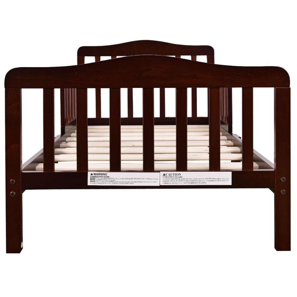 Brown Toddler Wood Bed Frame