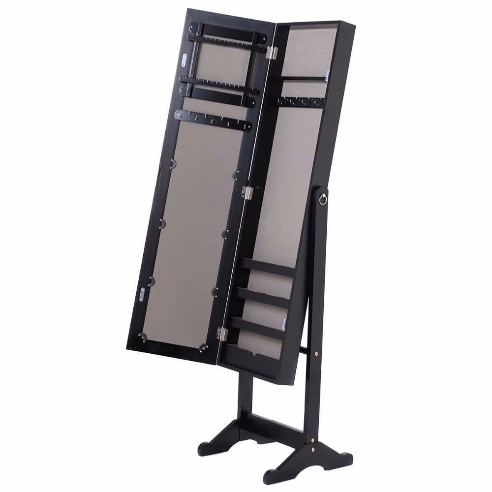 Wall & Door Mounted Mirror Jewelry Cabinet Organizer