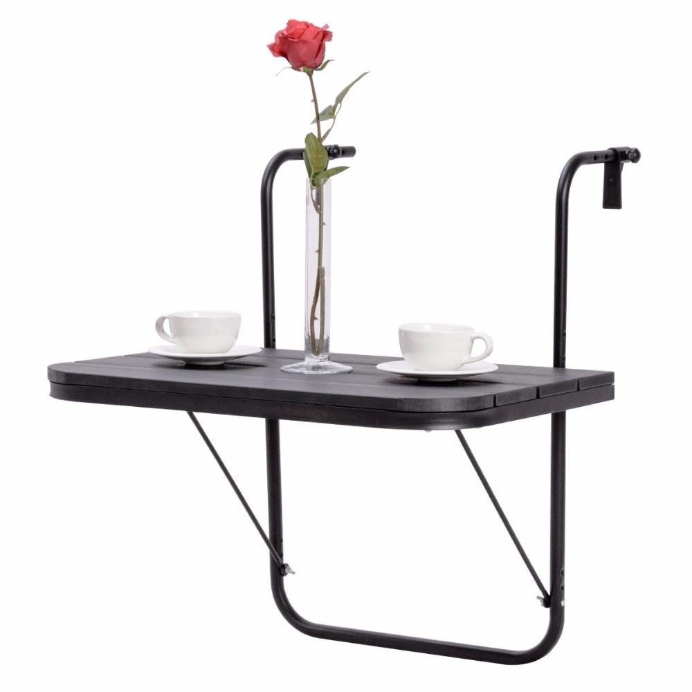 Adjustable Folding Balcony Serving Table