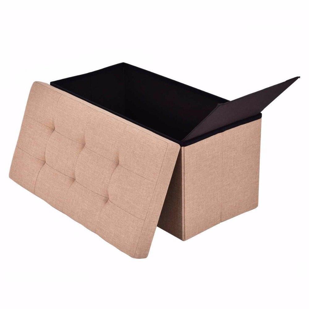 76″ Modern Folding Rectangle Storage Ottoman
