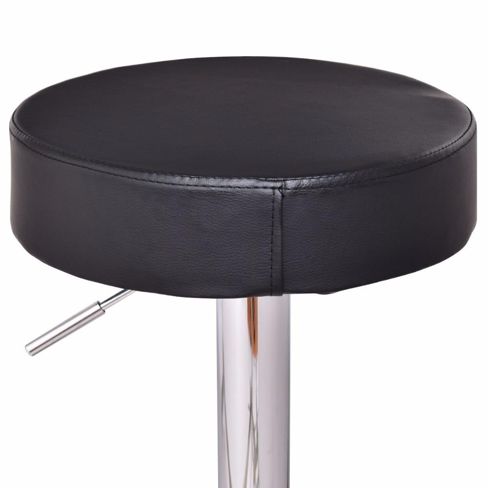 2 Piece Modern Round Leather Bar Stools