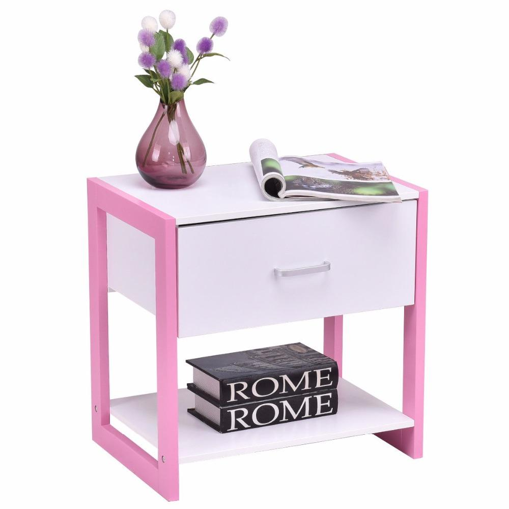 Modern Square End Table Nightstand