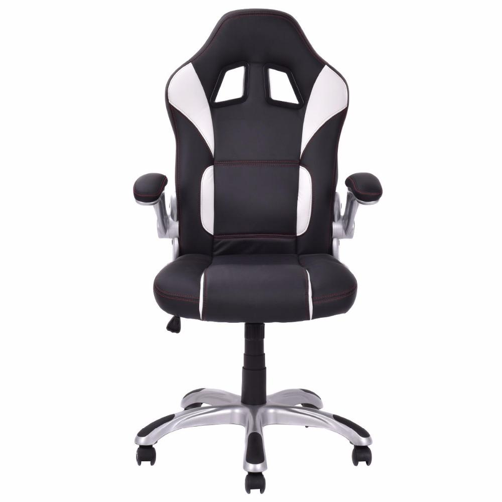 Black & White High Back Executive Sports Car Style Chair