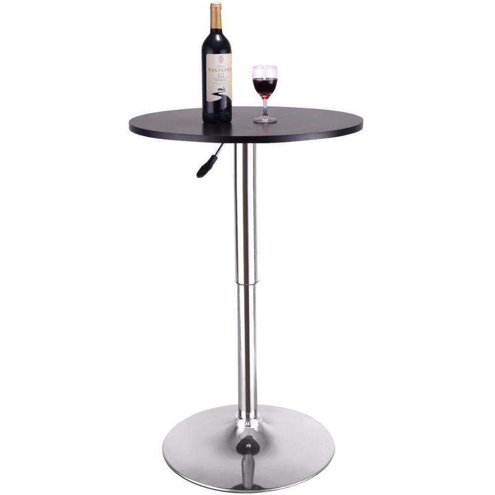 Modern Adjustable Bistro Round Bar Table