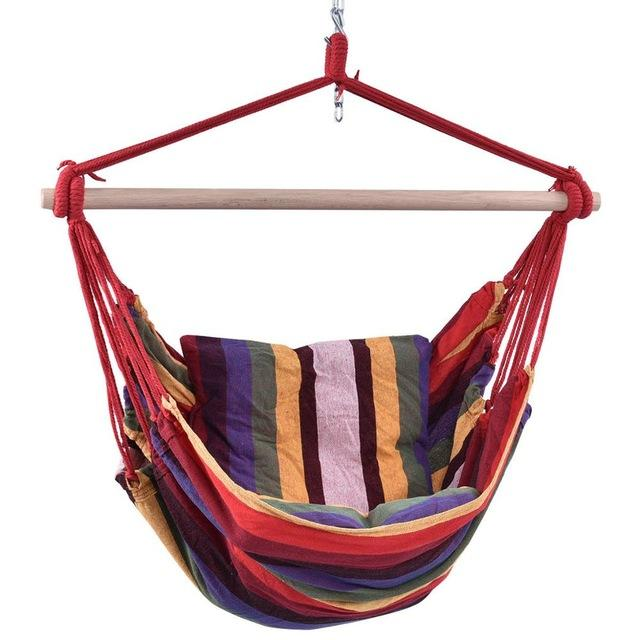 Patio Hammock Porch Hanging Cotton Rope Swing