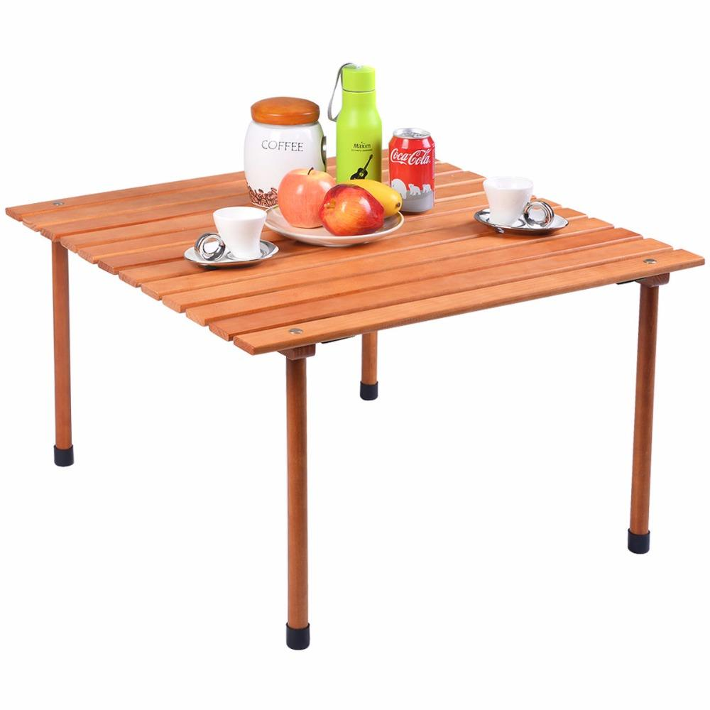 Portable Folding Roll Up Dining Table