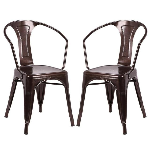 2 Piece Paris Bistro Vintage Style Dining Chairs