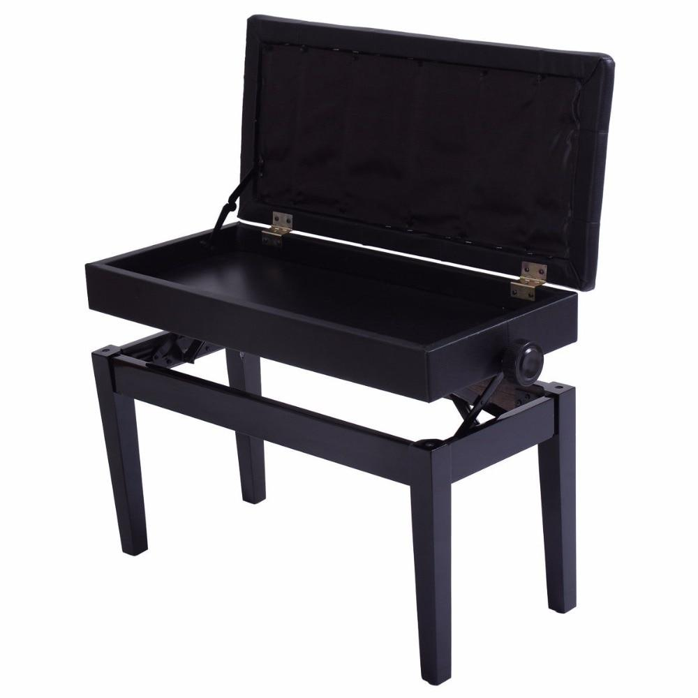Adjustable PU Leather Double Duet Piano Bench