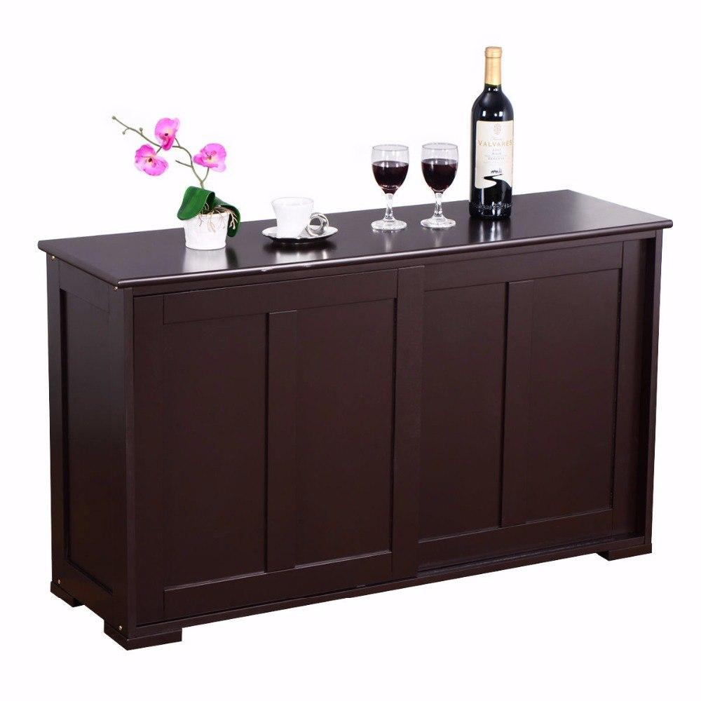 Brown Sideboard Buffet Storage Cabinet