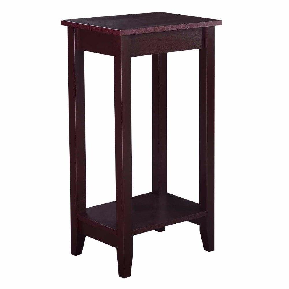Wood Multipurpose Tall End Tables