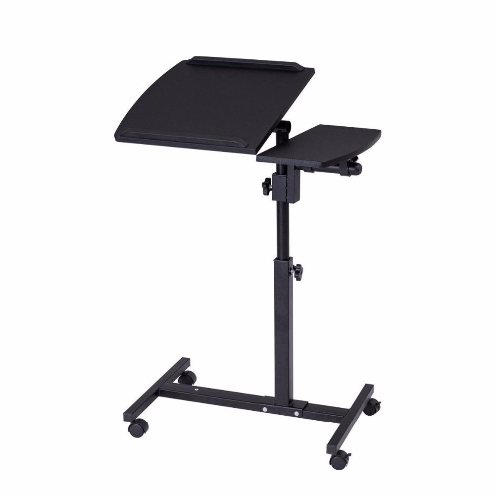 Adjustable Angle & Height Rolling Laptop Stand