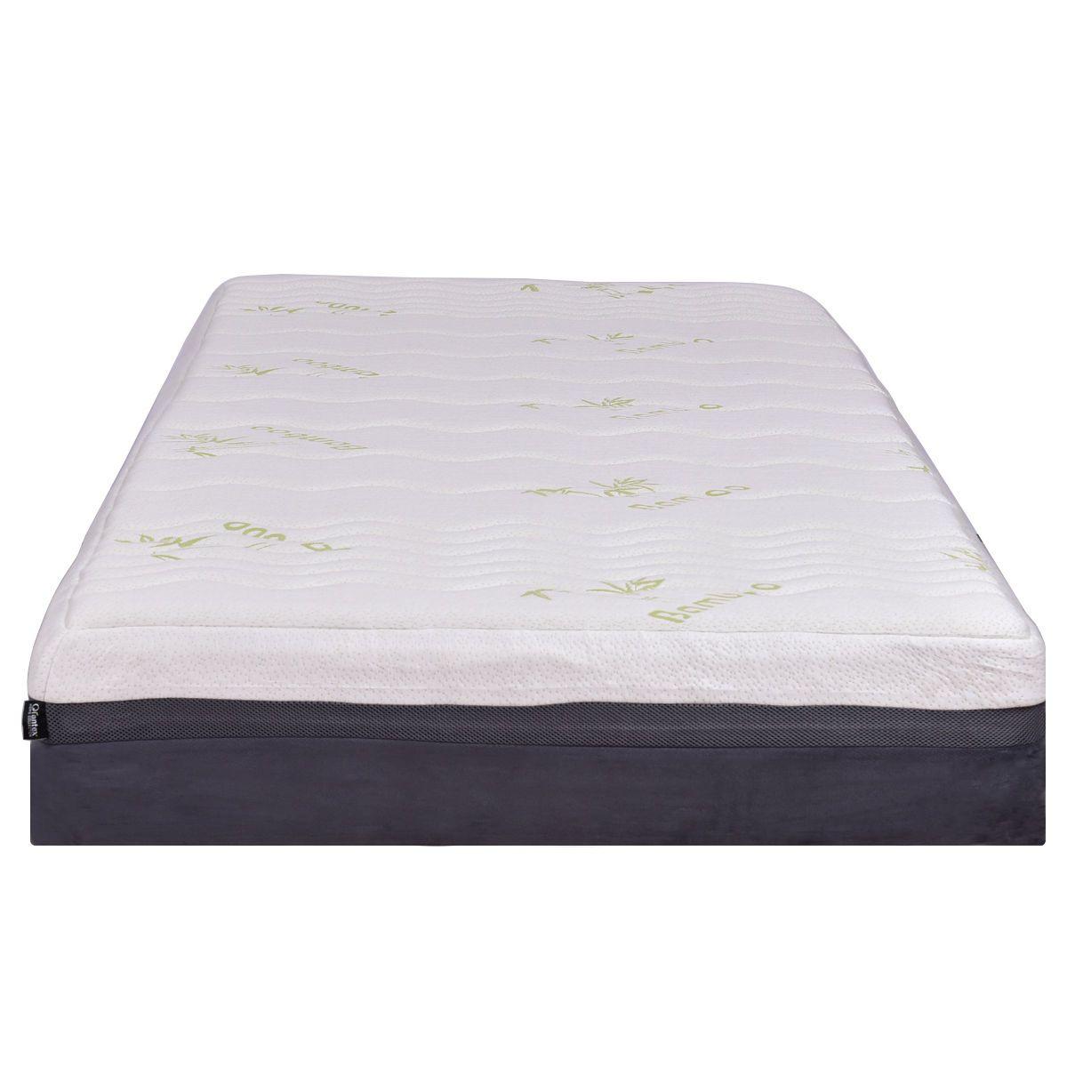 Queen Size 10″ Bamboo Cover Memory Foam Mattress