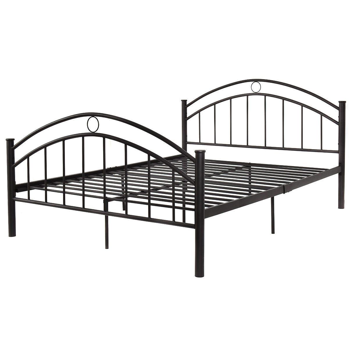 Black Queen Size Metal Steel Bed Frame