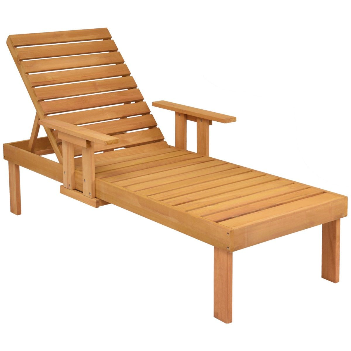 Outdoor Patio Chaise Sun Lounger