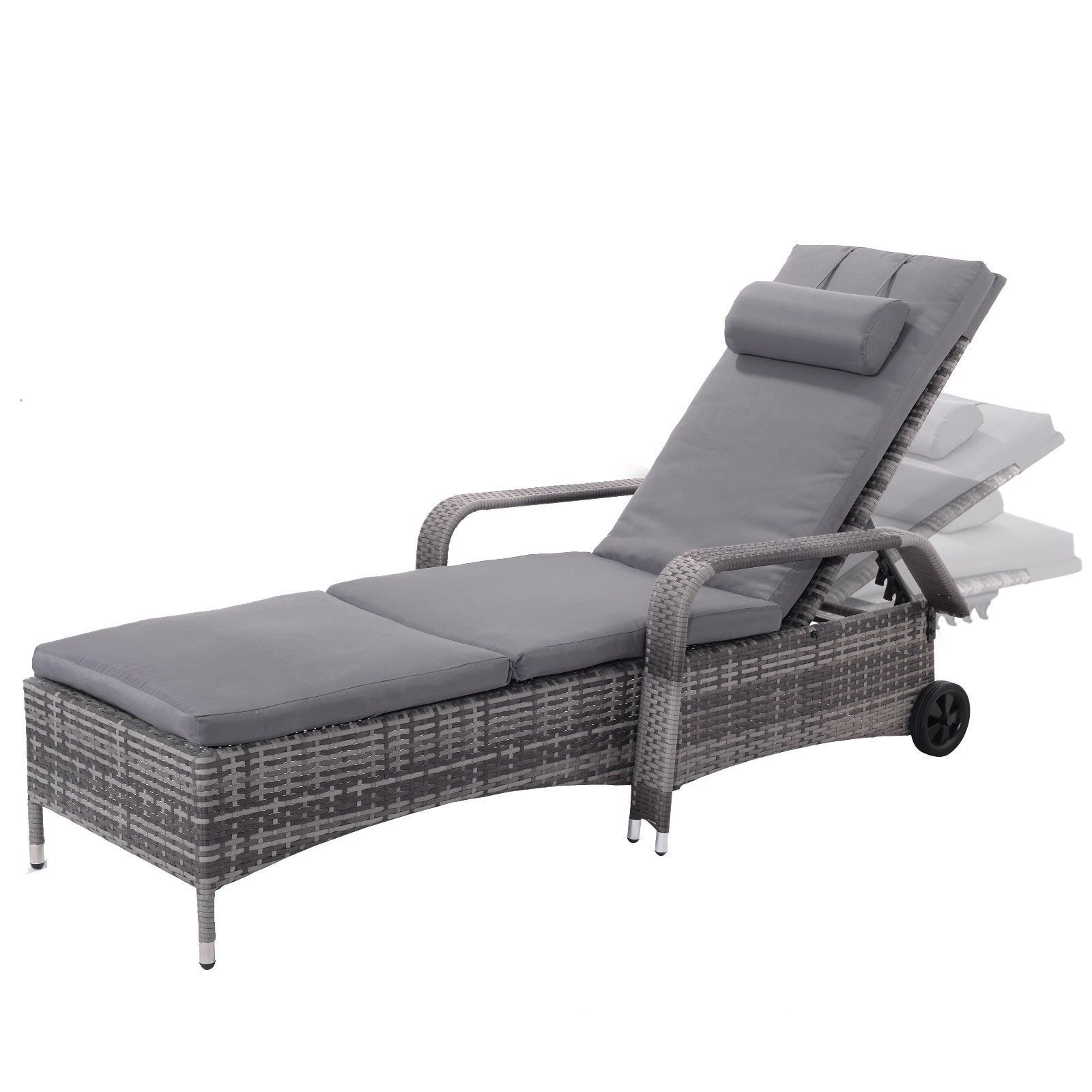 Outdoor Adjustable Chaise Lounge Recliner Chair