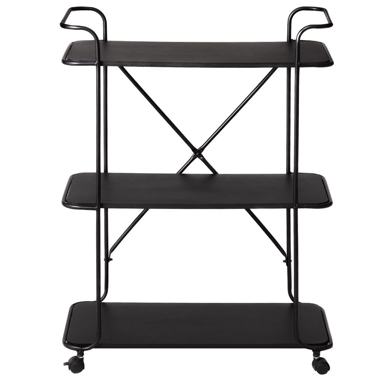 3 Tier Metal Portable Rolling Storage Cart