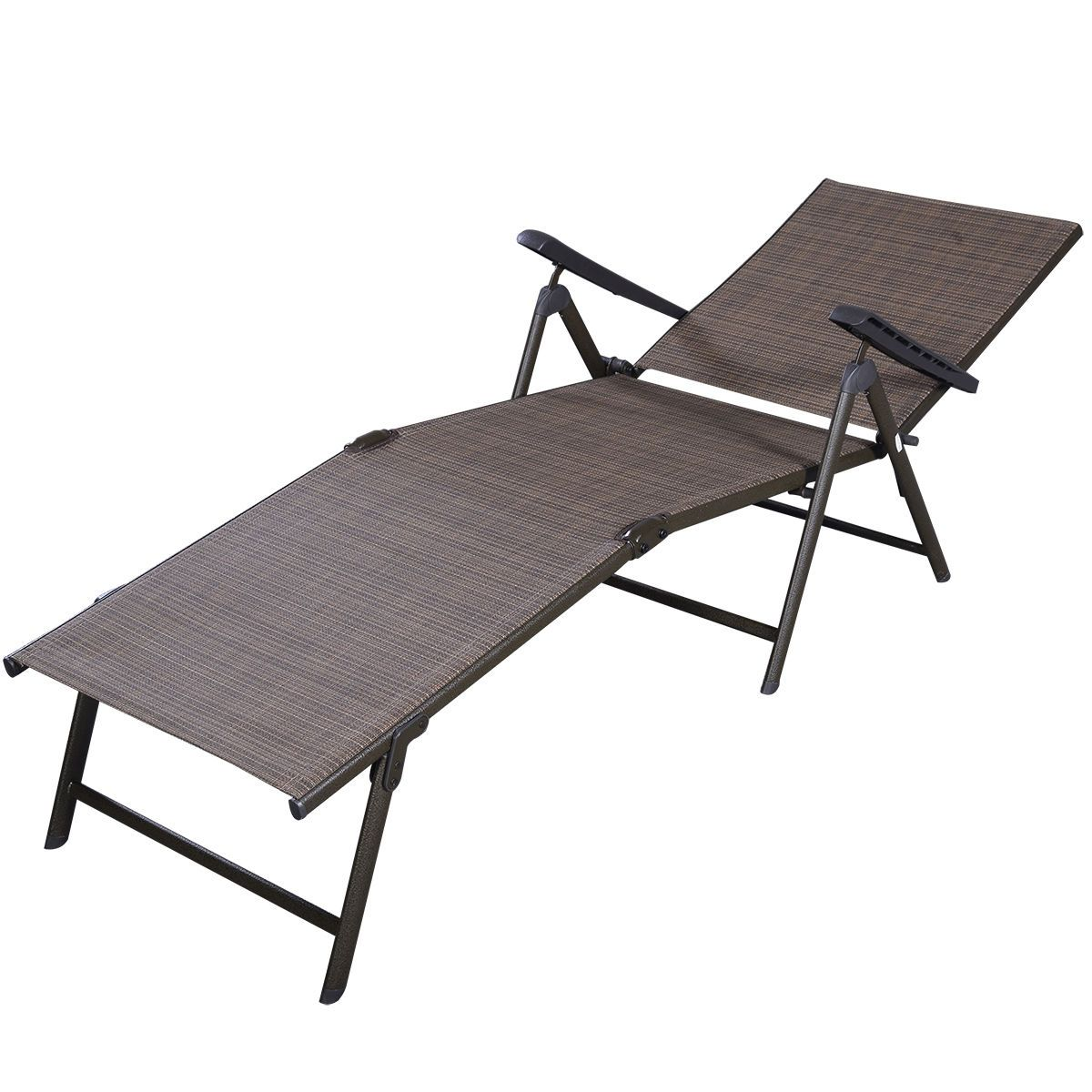 Adjustable Folding Pool Chaise Lounge Recliner Chair