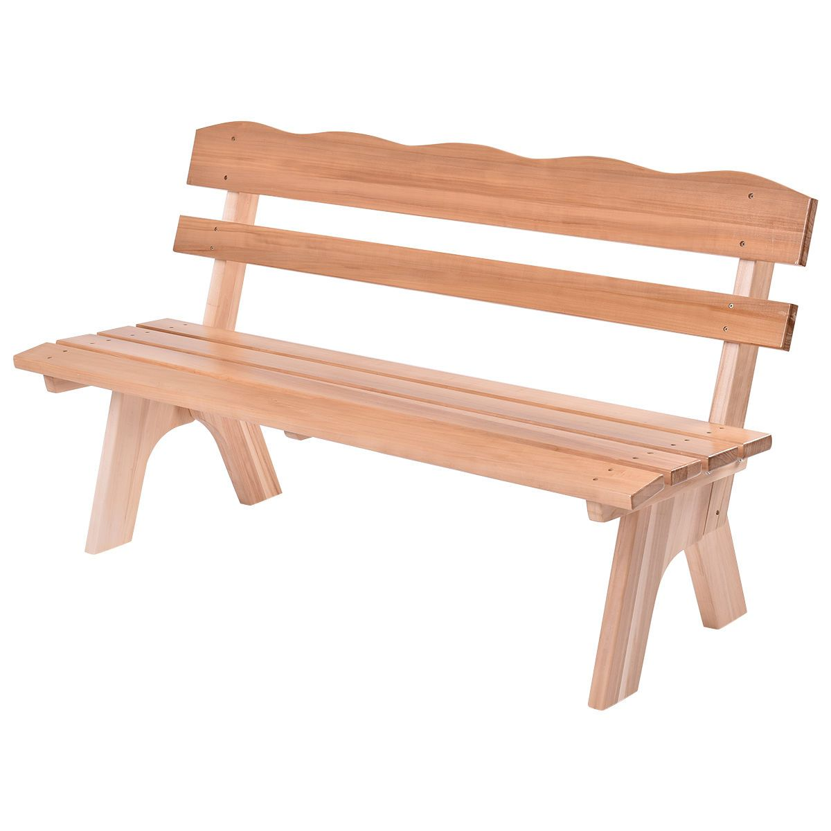 Outdoor Wooden Garden Bench Chair
