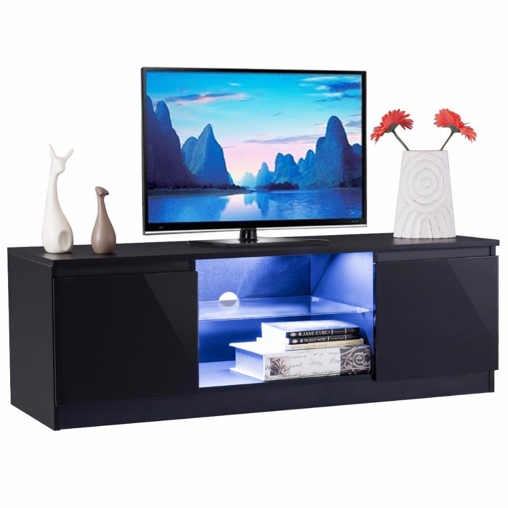 Black High Gloss Entertainment TV Stand