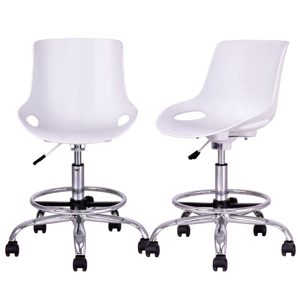 2 Piece Adjustable Armless Desk Chair