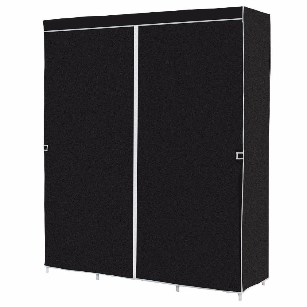 60″ Black Portable Closet & Wardrobe Organizer