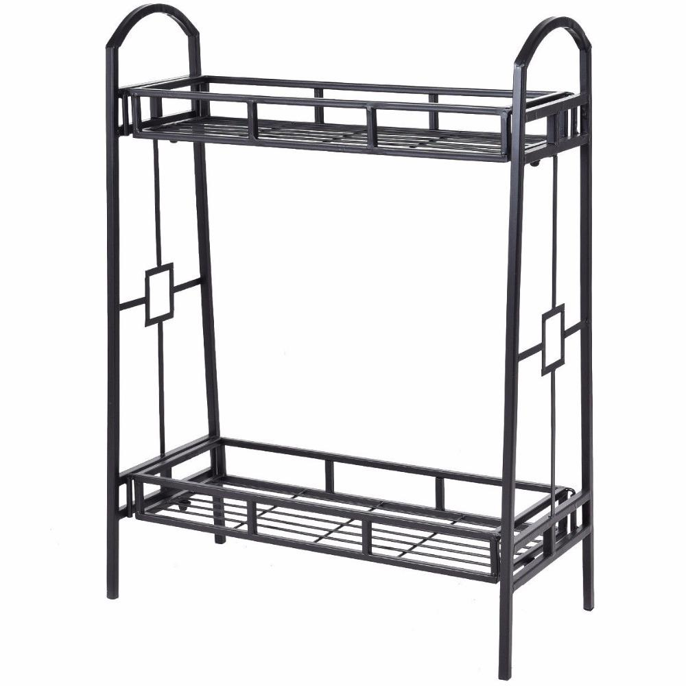 Heavy Duty 2 Tier Metal Flower Pot Rack
