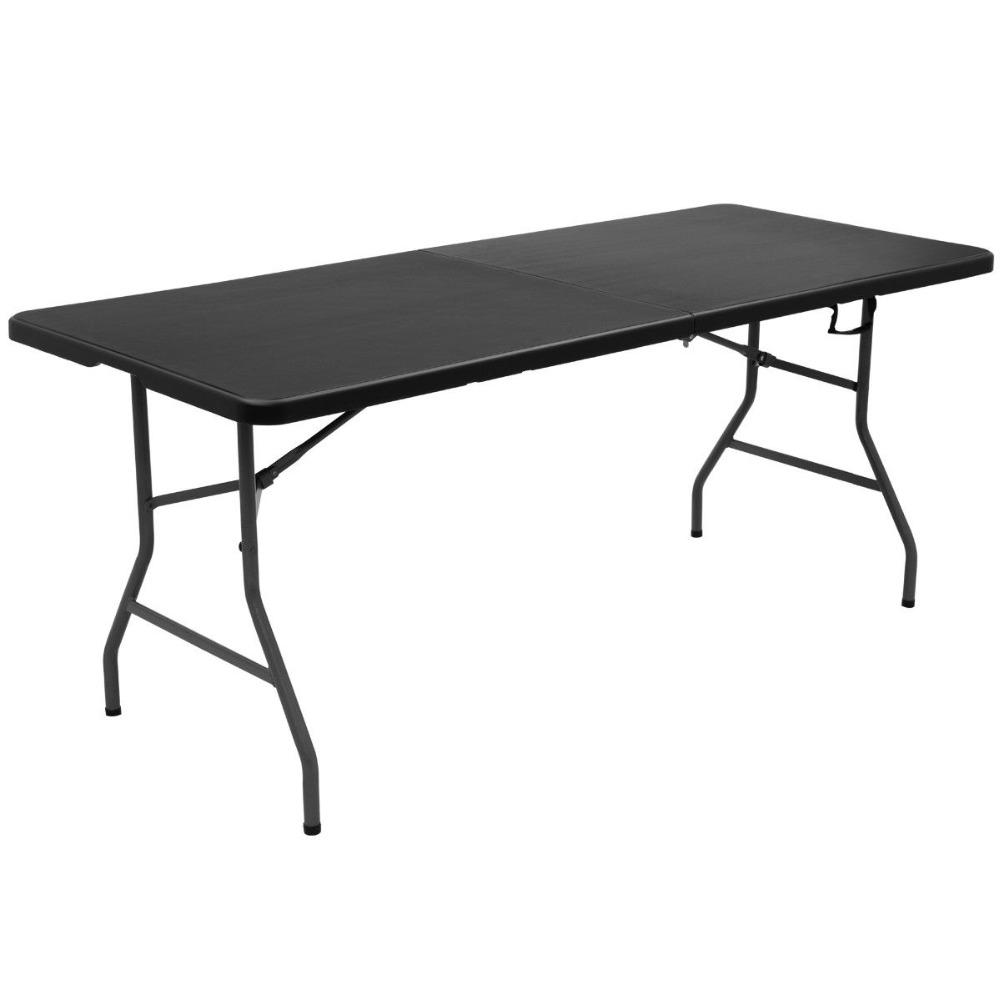 6′ Portable Plastic Picnic Folding Table