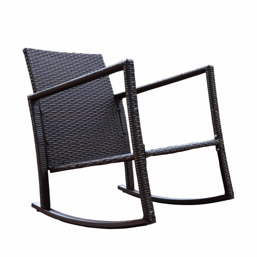 Outdoor Patio Rocking Rattan Garden Chair