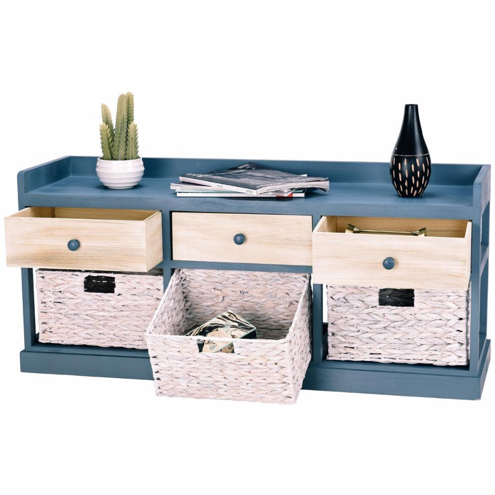 3 Wood Drawer Cabinet Storage Organizer
