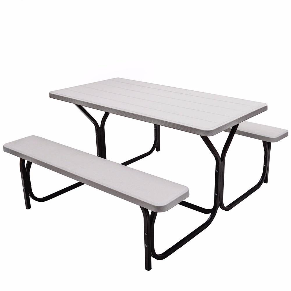 Outdoor Picnic Table Bench Set