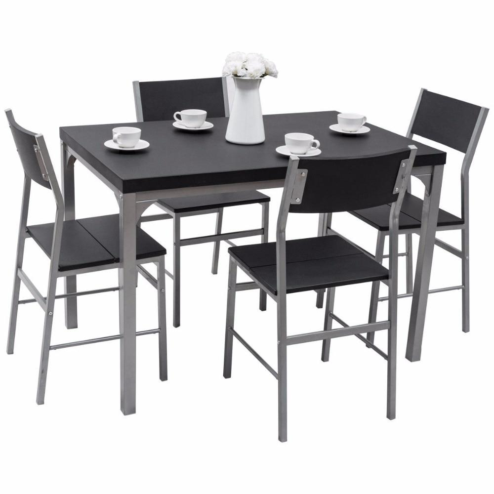 5 Piece Metal Dining Set