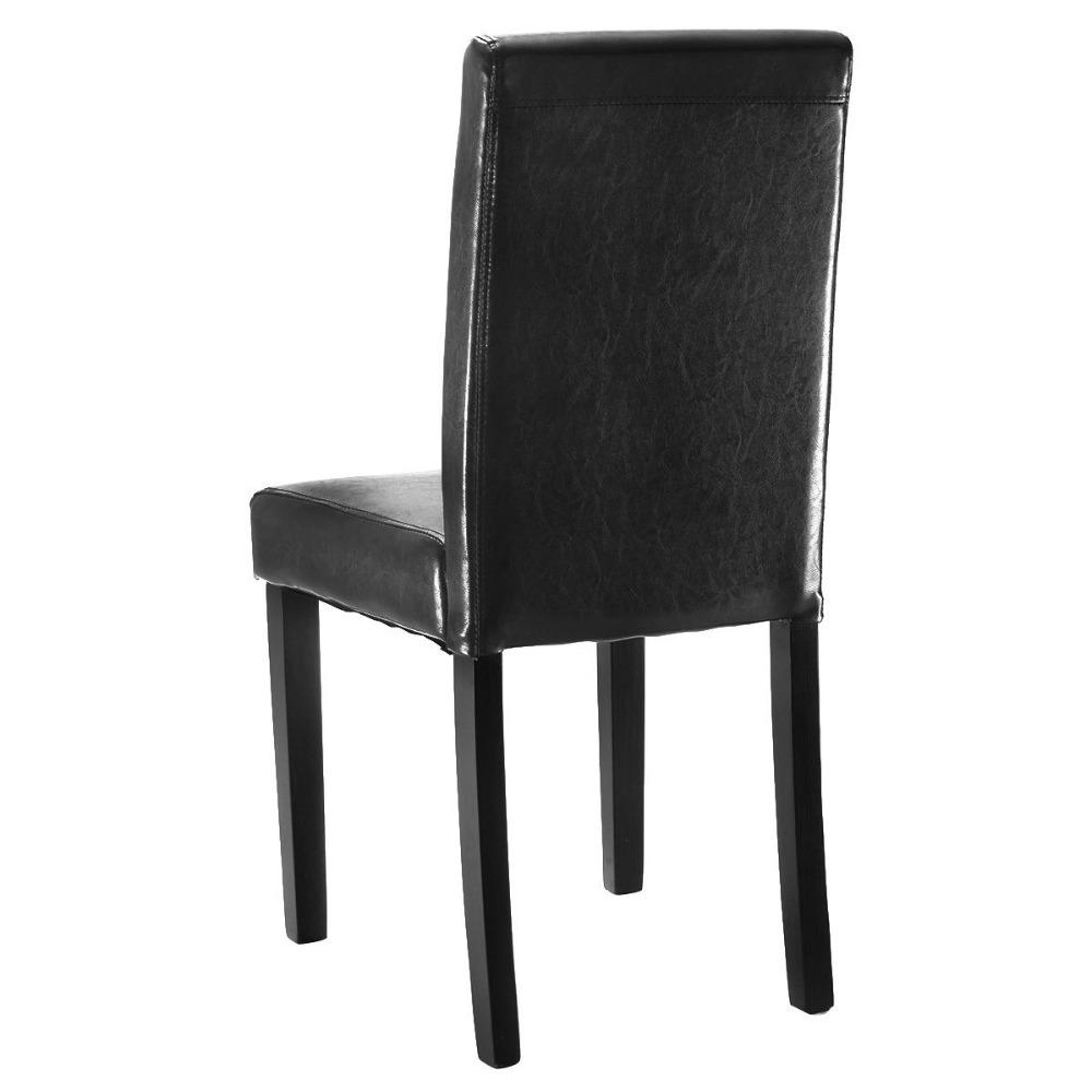 2 Pieces Modern Leather Dining Chairs