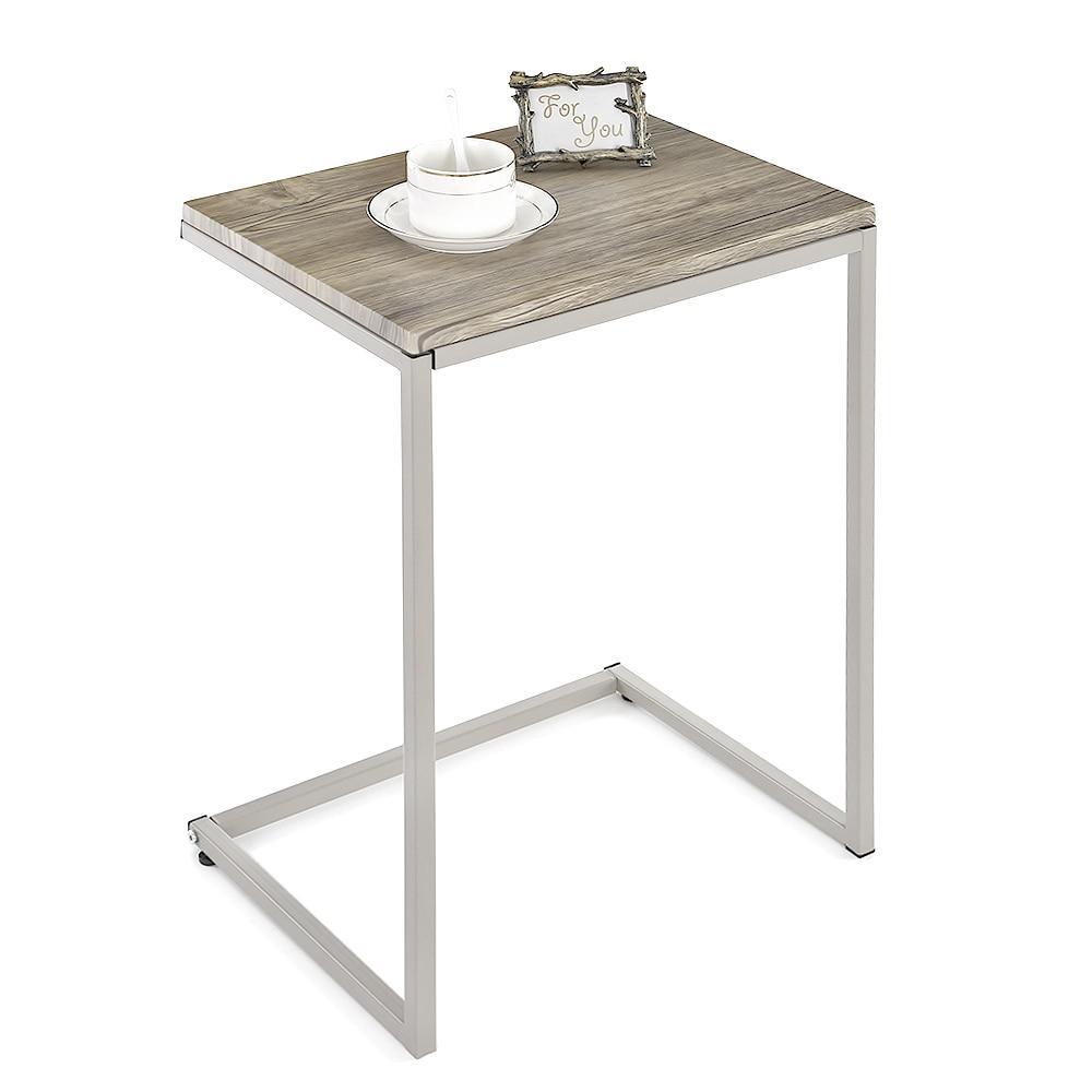 3 Piece Wood & Steel Nesting End Tables