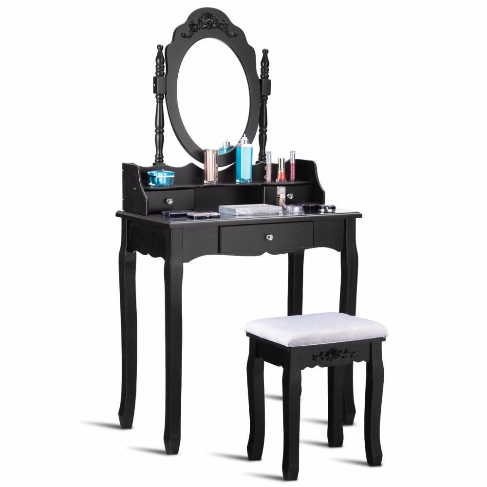 3 Drawer Vanity Table Stool Set