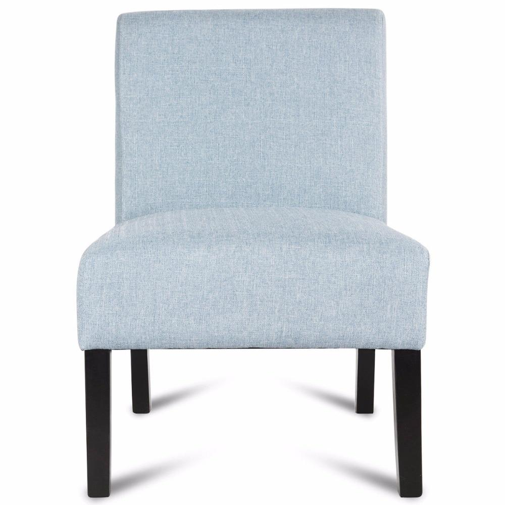Accent Upholstered Fabric Wood Armless Chair