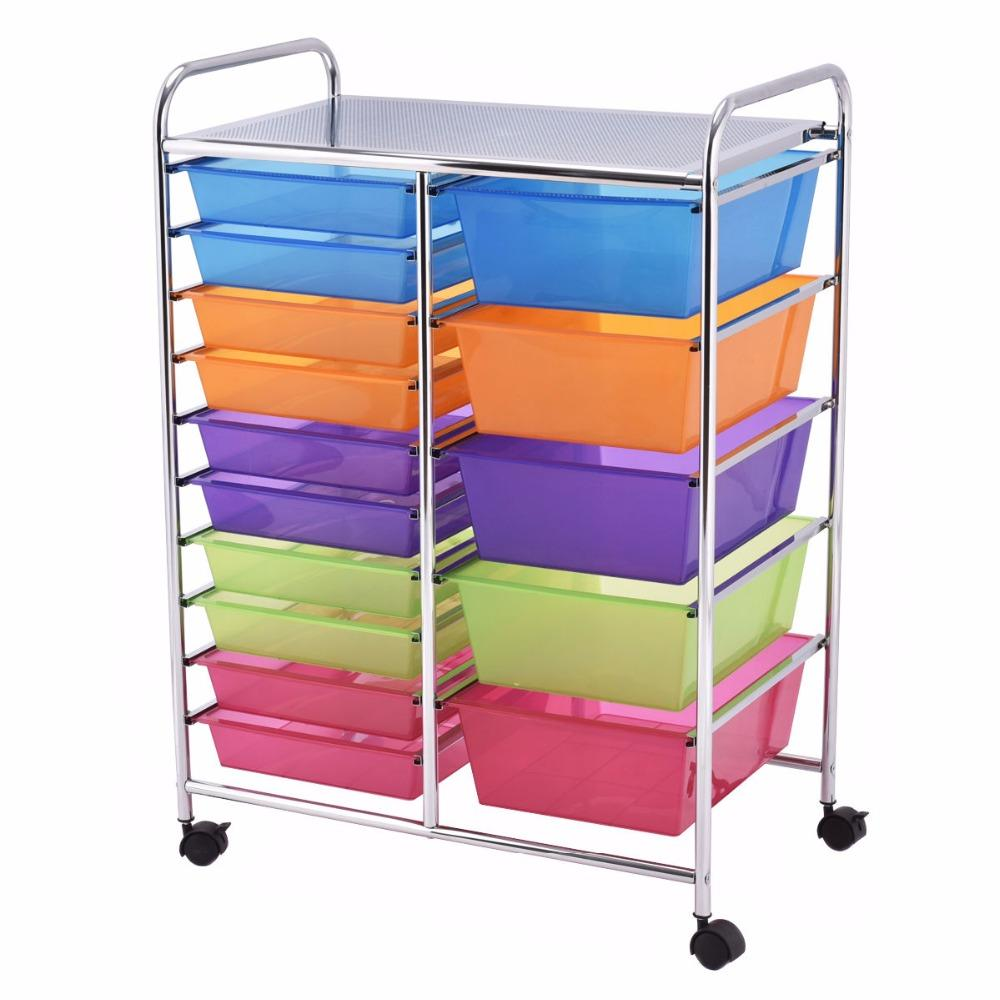 15 Drawer Rolling Storage Organizer Cart