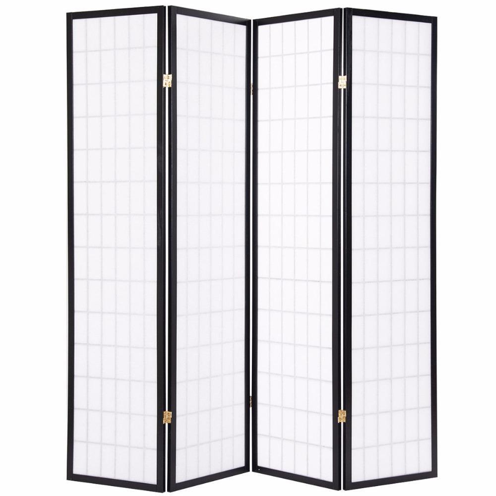 Shoji 4 Panel Folding Room Divider