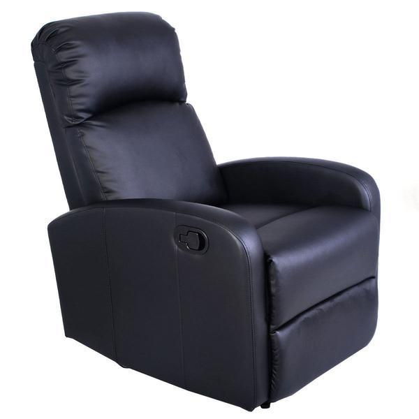 Manual Leather Recliner Chair