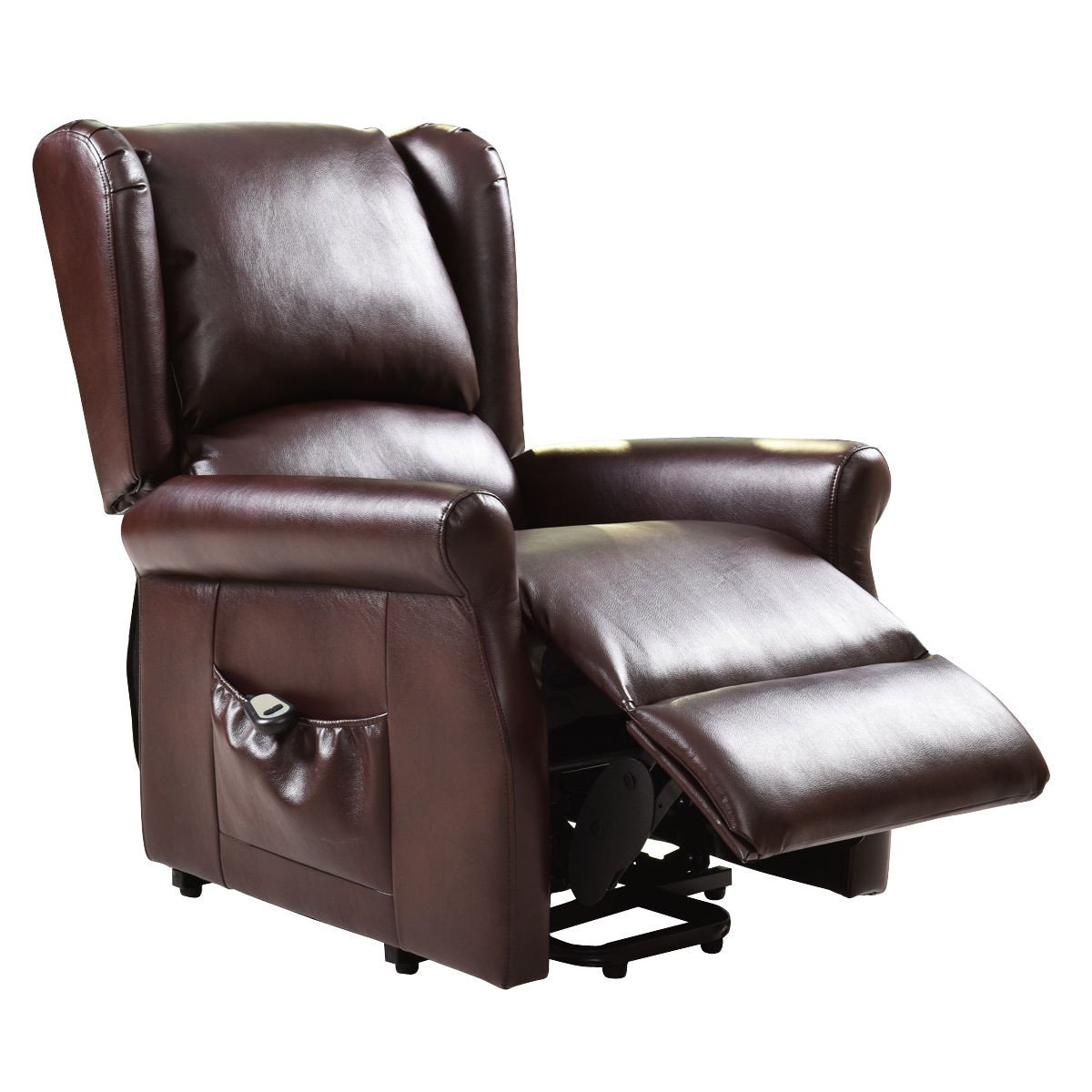 Brown Lift Chair Electric Power Recliner
