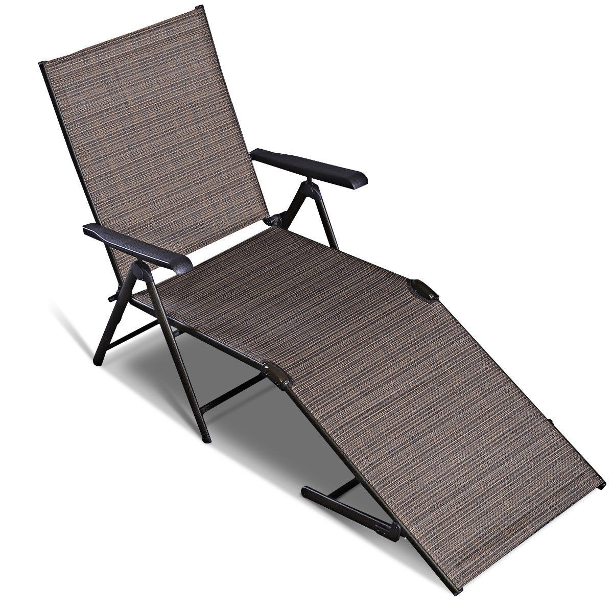 Adjustable Pool Chaise Lounge Recliner Chair
