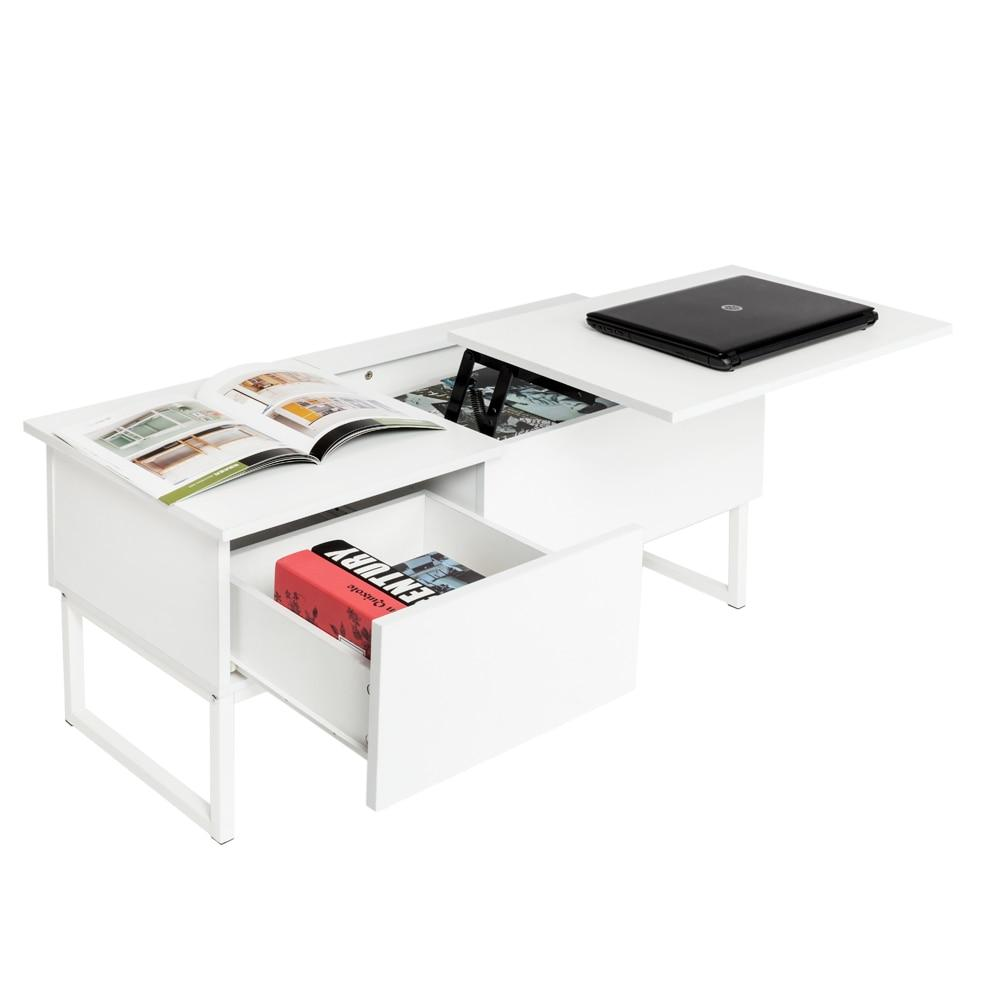 Modern Storage Drawer Lift Coffee Table